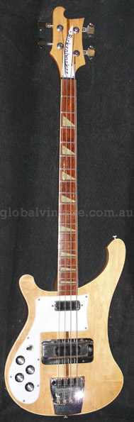 ~SOLD~Rickenbacker U.S.A. `74 Model 4001 LEFTY Mapleglo
