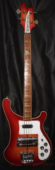 ~SOLD~Rickenbacker U.S.A. `75 Model 4001 Bass - Fireglo