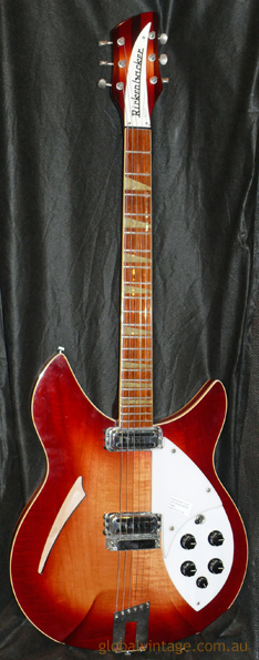 ~SOLD~ Rickenbacker U.S.A. `91 Model 360 V64 - 6 Fireglo