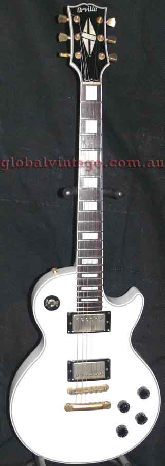 ~SOLD~Orville Japan `97 Les Paul Custom- White