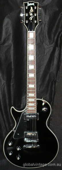 ~SOLD~Burny by Fernandes P90 Les Paul Custom type- LEFTY N.O.S.
