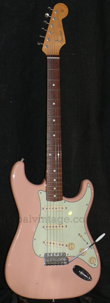"~SOLD~Fender Japan C.I.J. ""P"" series `62 Strat R.I. Shell Pink,"