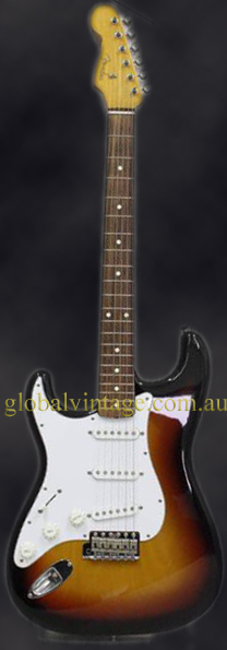 "Fender Japan C.I.J. ""O"" series `62 Stratocaster R.I. LEFTY ST62-"