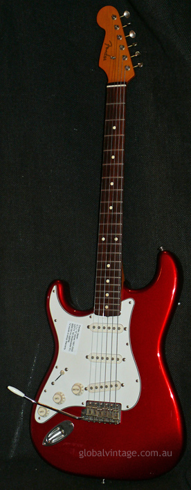 "Fender Japan C.I.J. ""O"" series `62 Stratocaster R.I. LEFT HANDED"