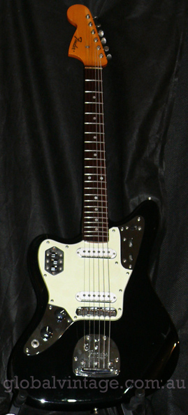 "~SOLD~Fender Japan C.I.J. ""Q"" series Lefty Jaguar reissue. JG66-"
