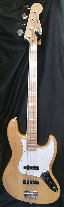 "Fender Japan C.I.J. ""R"" series `75 Jazz Bass reissue Left Handed"