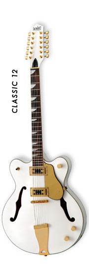 Eastwood Guitars Classic 12 White-Gold hardware