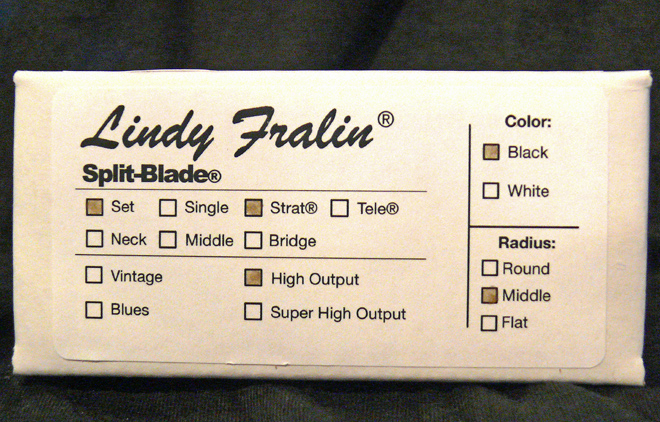 Lindy Fralin Split-Blade High Output Strat pickup set