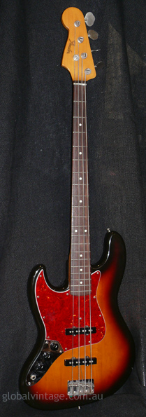 "Fender Japan M.I.J. ""Q"" series `62 Jazz Bass R.I. LEFT HANDED"