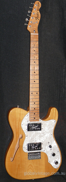 Fender Japan M.I.J. 'Q' series `72 Telecaster Thinline Reissue
