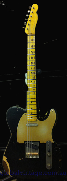 ~SOLD~Nash Guitars T-52 `52 Telecaster type Black/Gold