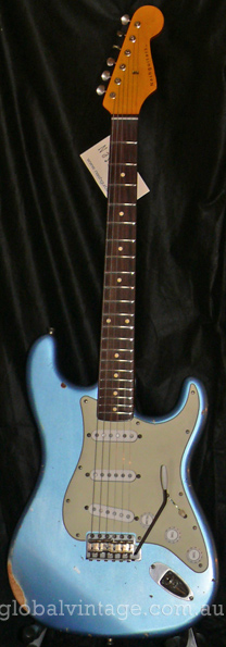 ~SOLD~Nash U.S.A. S-63 Ice Blue Stratocaster type