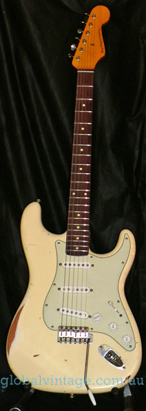 ~SOLD~Nash U.S.A. S-63 Vintage White Strat type