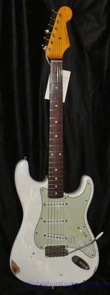 ~SOLD~Nash Guitars S-63 Olympic White -Ash body