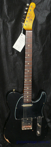 ~SOLD~Nash Guitars T63 Black on black Telecaster type