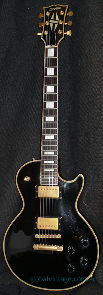 "Orville Japan ""K"" series Les Paul Custom Black Beauty"