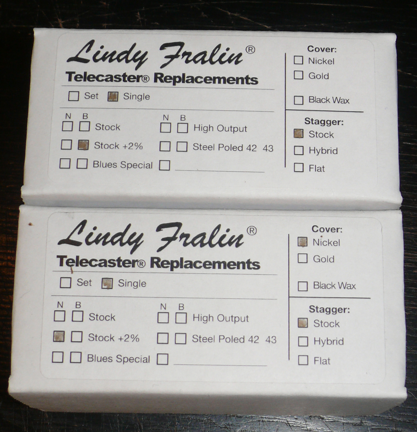 Lindy Fralin +2% Telecaster pickup set