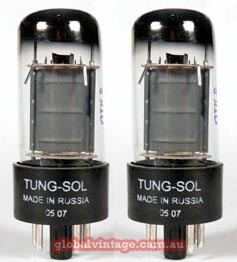 Tung Sol 6V6 matched pair
