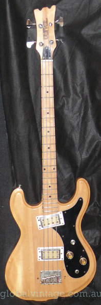 ~SOLD~UniVox Hi Flier Mosrite type bass