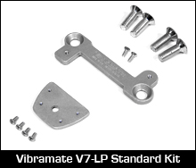 Vibramate V7 mounting plate for B7 on Les Paul