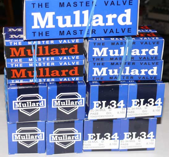 Mullard matched QUAD EL34 R.I.