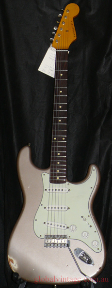 ~SOLD~Nash Guitars U.S.A. `13 ST-63 Shoreline Gold Strat type